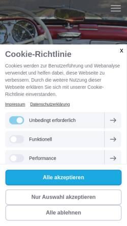 Vorschau der mobilen Webseite www.karosseriebauer-innung.de, Karosserie- und Fahrzeugbauer Innung Berlin