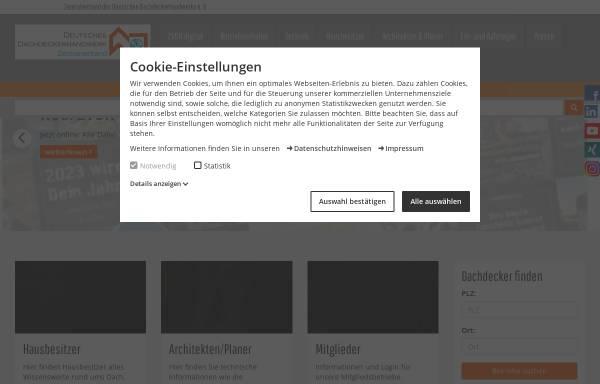 Vorschau von www.dachdecker.de, Landesinnung des Dachdeckerhandwerks Berlin