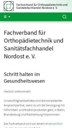 Vorschau der mobilen Webseite www.osrbb.de, Landesinnung für Orthopädietechnik Berlin Brandenburg