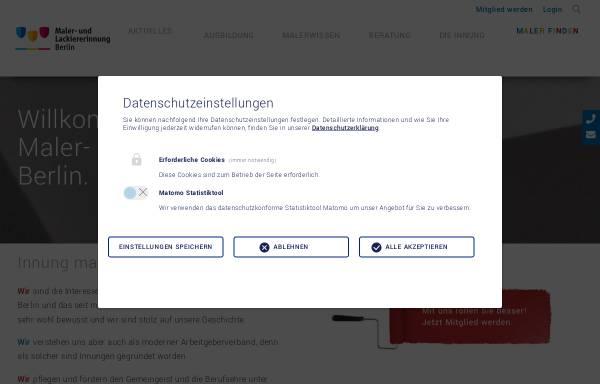 Vorschau von www.malerinnung-berlin.de, Maler- und Lackiererinnung Berlin