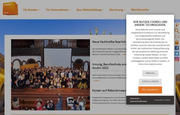 Vorschau von www.tischler-innung-berlin.de, Tischler-Innung Berlin