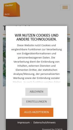 Vorschau der mobilen Webseite www.tischler-innung-berlin.de, Tischler-Innung Berlin
