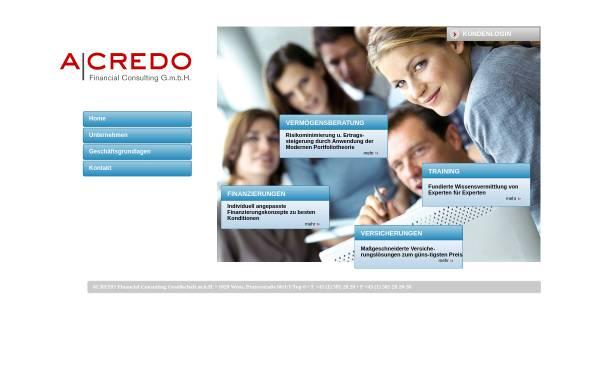 Vorschau von www.acredo.at, Acredo Financial Consulting Ges.m.b.H.