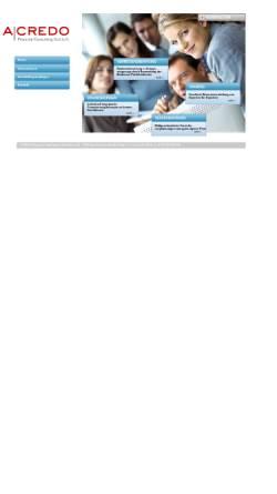 Vorschau der mobilen Webseite www.acredo.at, Acredo Financial Consulting Ges.m.b.H.