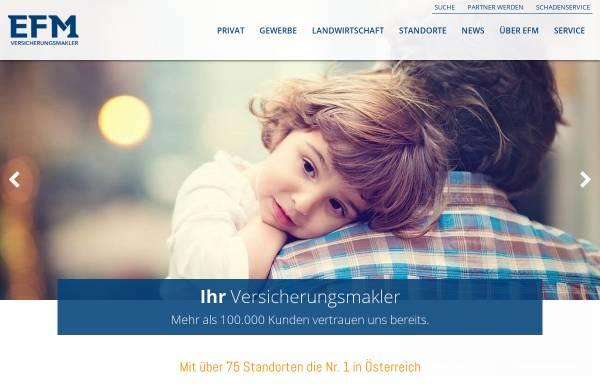 Vorschau von www.efm.at, EFM Versicherungsmakler AG