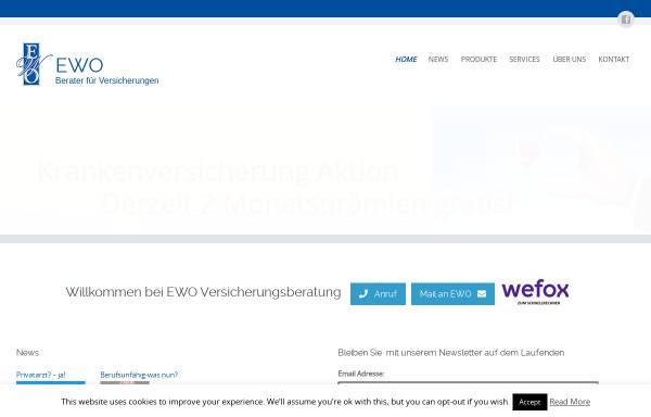 Vorschau von ewo.co.at, EWO Versicherungsberatung GmbH