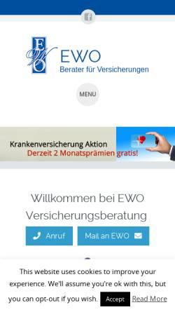 Vorschau der mobilen Webseite ewo.co.at, EWO Versicherungsberatung GmbH