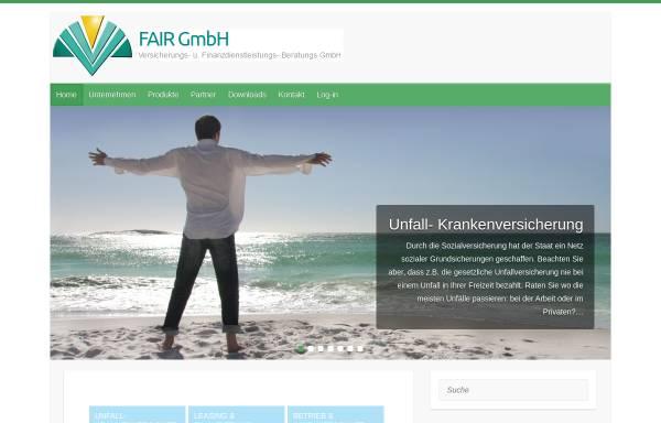 Vorschau von www.fair-gmbh.at, FAIR Versicherungs- Finanzdienstleistungs- Beratungs- GmbH