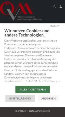 Vorschau der mobilen Webseite www.oevm.at, Österreichische Versicherungsmaklerring