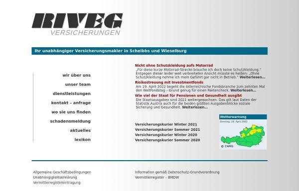Vorschau von www.riveg.com, RIVEG Versicherungstreuhand GmbH