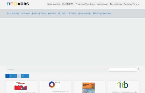 Vorschau von www.vobs.at, Vorarlberger Bildungsserver