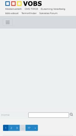 Vorschau der mobilen Webseite www.vobs.at, Vorarlberger Bildungsserver