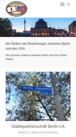 Vorschau der mobilen Webseite www.cc-stiftung.de, Checkpoint Charlie Stiftung