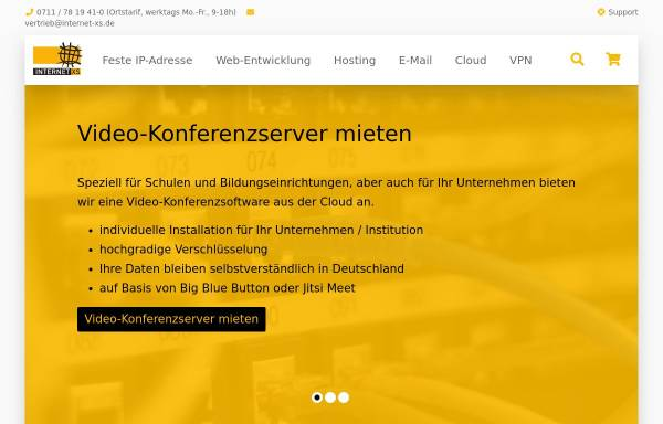 Vorschau von www.internet-xs.de, Internet XS Service GmbH
