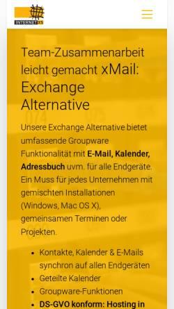Vorschau der mobilen Webseite www.internet-xs.de, Internet XS Service GmbH