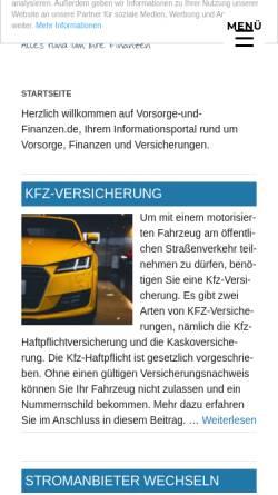 Vorschau der mobilen Webseite www.vorsorge-und-finanzen.de, Vorsorge & Finanzen