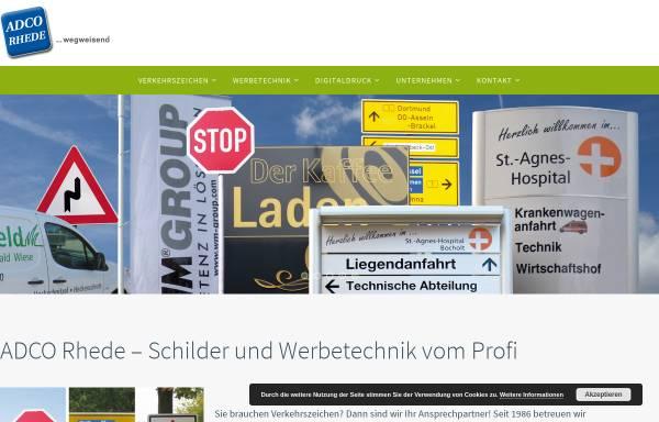 Vorschau von www.adco-rhede.de, ADCO Schilderfabrik GmbH