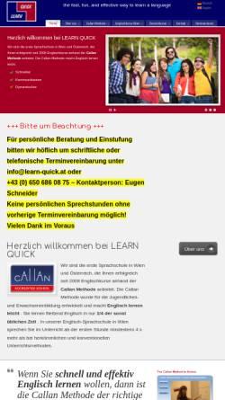 Vorschau der mobilen Webseite www.learn-quick.at, Learn Quick