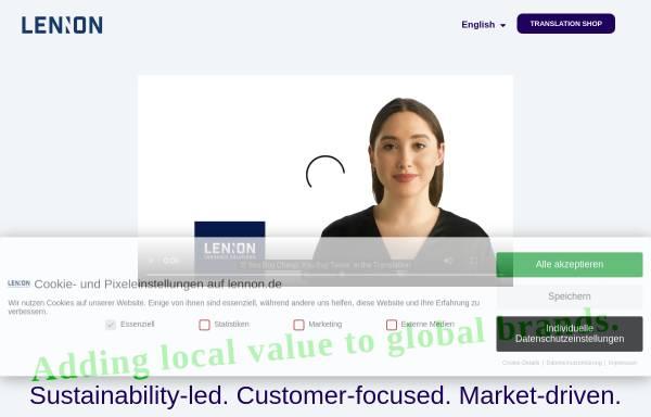 Vorschau von www.lennon.de, Lennon.de Language Services