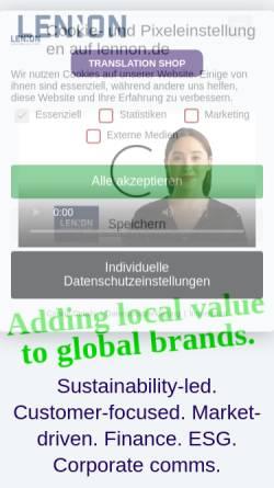 Vorschau der mobilen Webseite www.lennon.de, Lennon.de Language Services