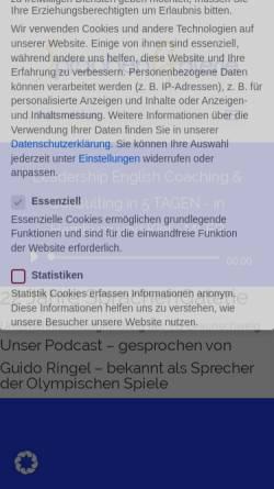 Vorschau der mobilen Webseite www.sprachengalerie.de, Sprachengalerie