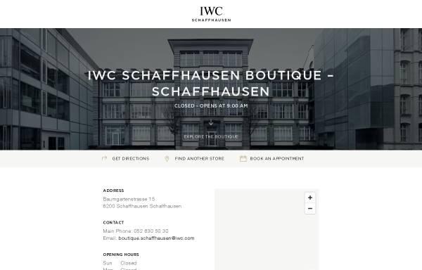 Vorschau von www.iwc.com, IWC International Watch Co. Ltd