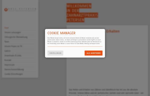 Vorschau von www.dr-klaus-petersen.de, Gemeinschaftspraxis Dr. Klaus Petersen und Partner
