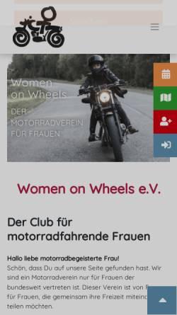 Vorschau der mobilen Webseite www.wow-germany.de, Women on wheels Germany