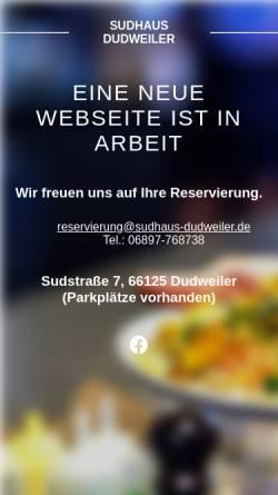 Vorschau der mobilen Webseite www.sudhaus-dudweiler.de, Gasthausbrauerei Sudhaus Hiltrud Denzer Dudweiler