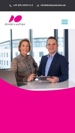 Vorschau der mobilen Webseite www.direktundonline.de, Direkt + Online GmbH