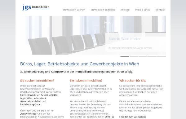 Vorschau von www.jgs.at, JGS Immobilien in Wien