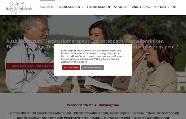 Vorschau von ift-info.de, IfT-Institut für Tierheilkunde