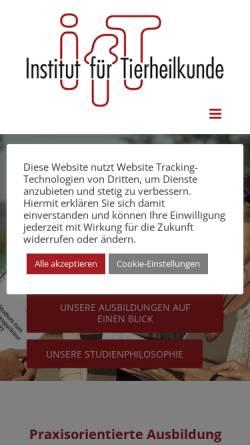 Vorschau der mobilen Webseite ift-info.de, IfT-Institut für Tierheilkunde