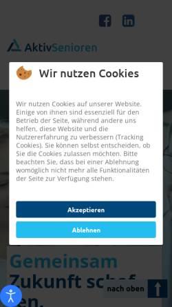 Vorschau der mobilen Webseite www.aktivsenioren.de, Aktivsenioren Bayern e.V.