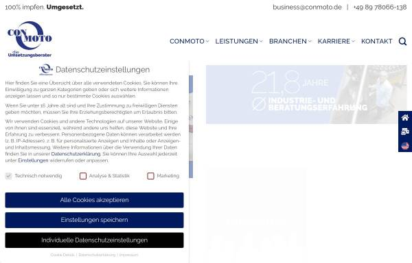 Vorschau von www.conmoto.de, CON MOTO Strategie & Realisierung Unternehmensberatung GmbH
