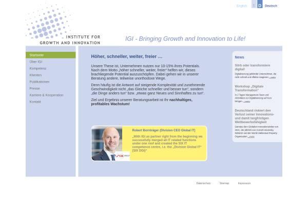 Vorschau von www.igi-munich.com, IGI Institute for Growth and Innovation GmbH