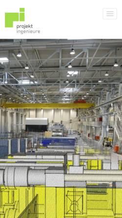 Vorschau der mobilen Webseite www.projektingenieure.de, Projektingenieure mbH