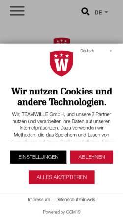 Vorschau der mobilen Webseite www.wilcomsult.de, Wilcomsult GmbH