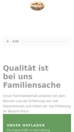 Vorschau der mobilen Webseite www.forellenhof-wilke.de, Forellenhof Wilke GmbH