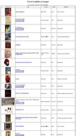 Vorschau der mobilen Webseite www.peak.org, Dada-Kunst