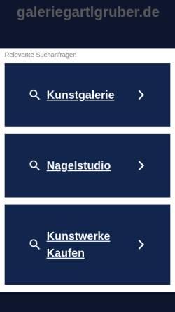 Vorschau der mobilen Webseite www.galeriegartlgruber.de, Galerie Gartlgruber