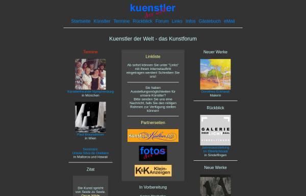 Vorschau von www.kuenstlerderwelt.de, kuenstlerderwelt.de