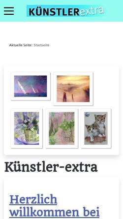 Vorschau der mobilen Webseite www.kuenstler-extra.de, Künstler Extra