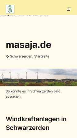 Vorschau der mobilen Webseite www.masaja.de, Künstlerwebsite masaja.de