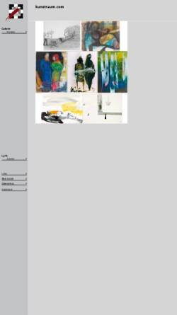 Vorschau der mobilen Webseite www.kunstraum.com, Kunstraum