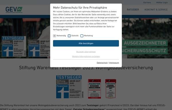 Vorschau von www.gev-versicherung.de, Grundeigentümer Versicherungen