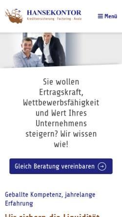 Vorschau der mobilen Webseite www.hansekontor-makler.de, Hansekontor Maklergesellschaft mbH