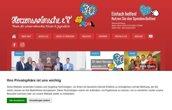Vorschau von www.herzenswuensche.de, Herzenswünsche e.V.