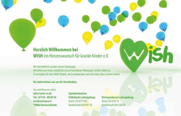 Vorschau von www.wish-ev.de, Wish - ein Herzenswunsch für kranke Kinder e.V.