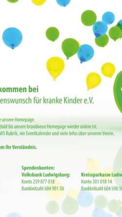 Vorschau der mobilen Webseite www.wish-ev.de, Wish - ein Herzenswunsch für kranke Kinder e.V.